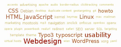 Nuage de mot clés pour WordPress