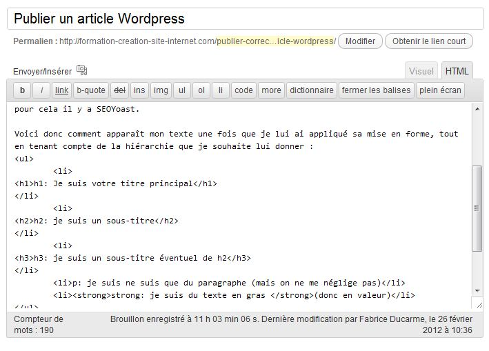 publier-article-wordpress-html