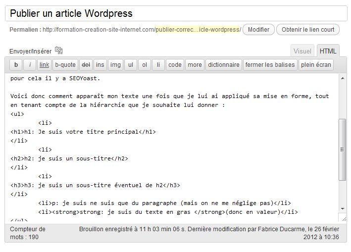 publier-article-wordpress-html