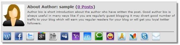Affichez votre Bio auteur