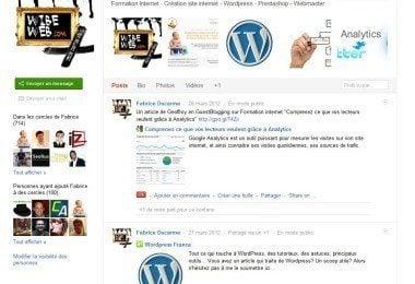Page personnelle Google+