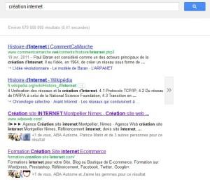 recherche internet avec +1