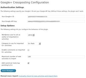 Google+ Crossposting