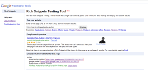 Google rich snippet tools