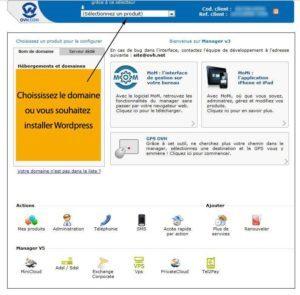 ovh interface 300x295   Installer WordPress tout simplement ! dans wordpress