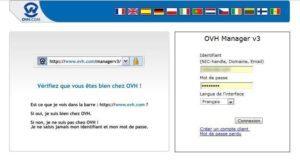 ovh manager 300x161   Installer WordPress tout simplement ! dans wordpress