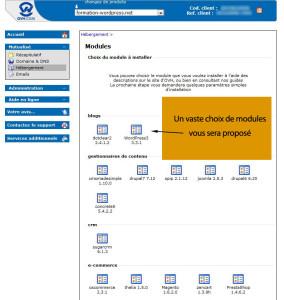 ovh tous les modules 284x300   Installer WordPress tout simplement ! dans wordpress