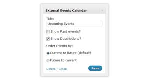 External Events Calendar