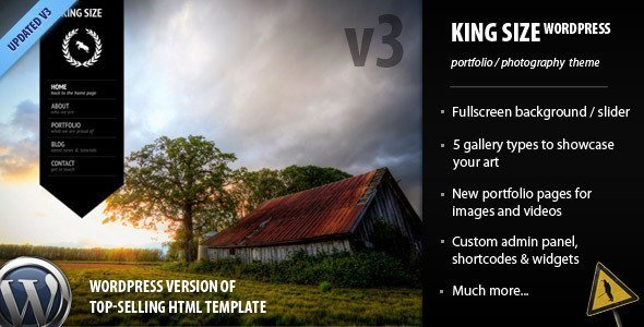 King size fullscreen Theme WP
