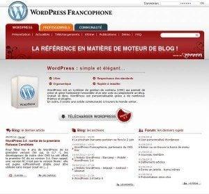 wordpress francophone