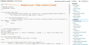 Modifier le fichier comments-php
