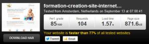 WordPress, changer de serveur Mutualisé à Dédié pingdom tools 300x89