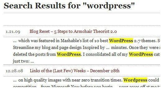 Un must de la recherche pour WordPress