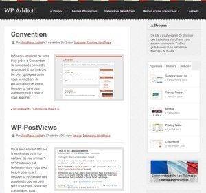 WordPress, les meilleurs sites Francophones WPaddict 300x280
