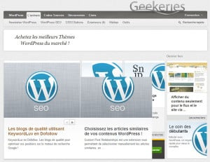 WordPress, les meilleurs sites Francophones WordPress Geekeries 300x231