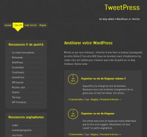 WordPress, les meilleurs sites Francophones tweetPress 300x279