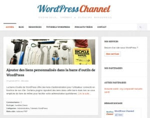 WordPress, les meilleurs sites Francophones wpchannel com 300x237