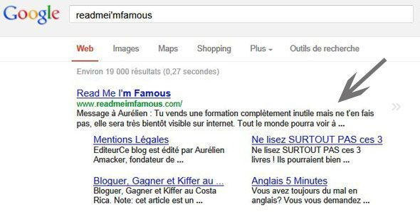 Capture du site readmeimfamous