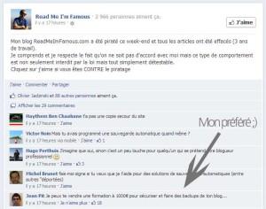Aurélien Amacker réagit sur sa page Facebook