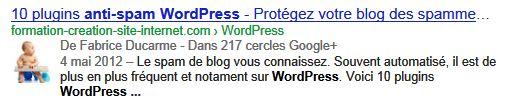 La balise rel author Google de WP formation