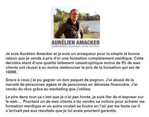 Site Amacker piraté