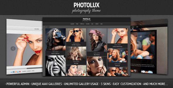 Thèmes WordPress pour Photographes Photolux
