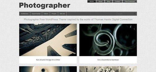 Thèmes WordPress pour Photographes photographer