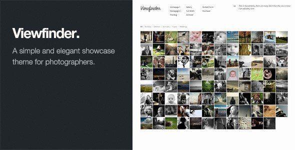 Thèmes WordPress pour Photographes viewfinder