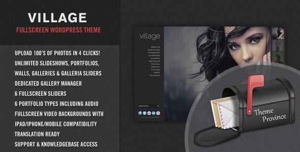Thèmes WordPress pour Photographes village