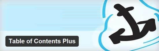 Table des matières WordPress avec Table of content plus