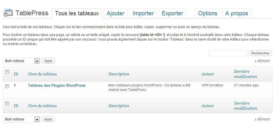 TablePress-Tableau-de-Bord