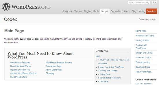 La pensée WordPress selon Julio codex wordpress org