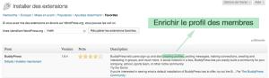 Installation plugin BuddyPress
