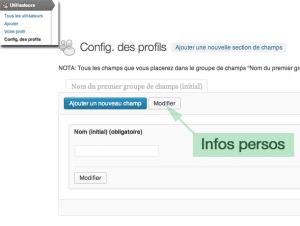 Configuration des profils BP
