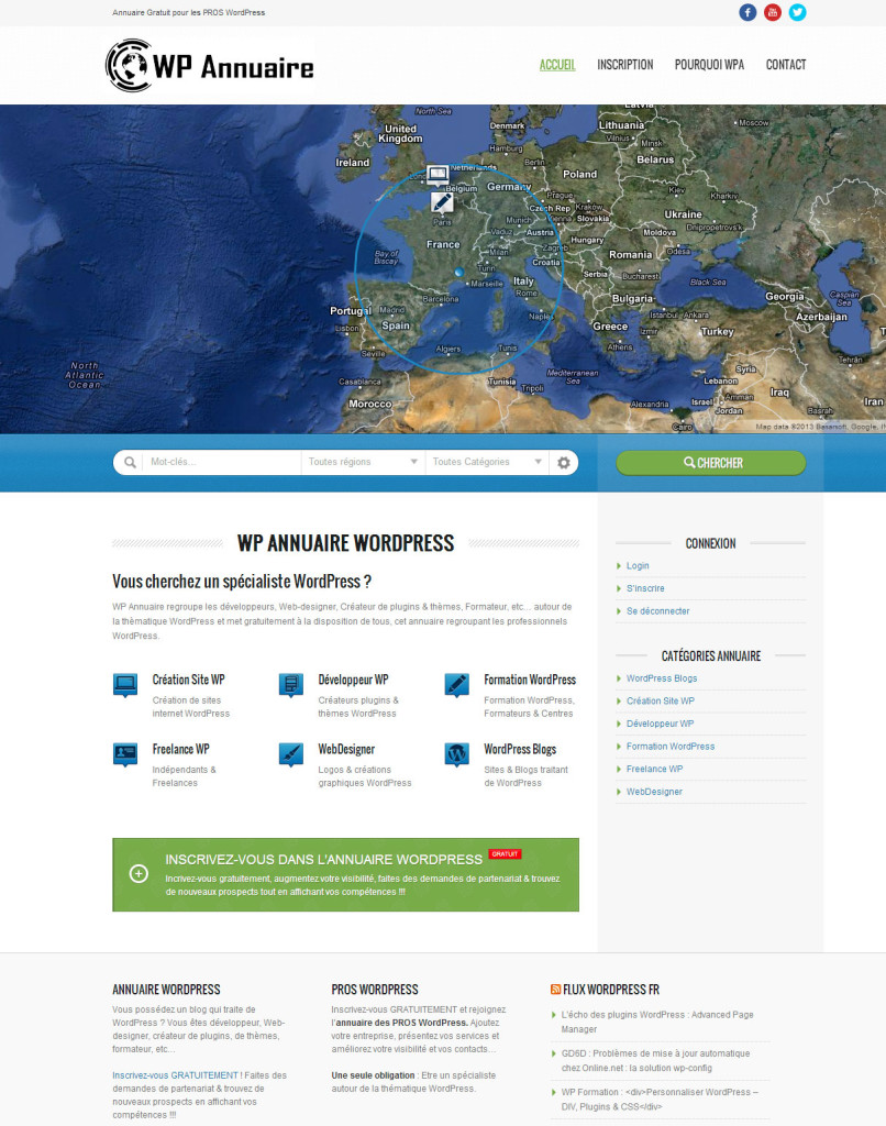 Site annonce WordPress Pros