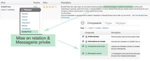 Modification des réglages BuddyPress