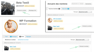 Gestion des contacts BuddyPress