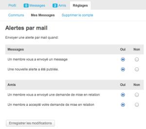 """BuddyPress Composant """"Informations de compte"""""""