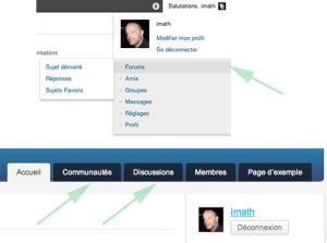 configuration BuddyPress pour ajouter les composants