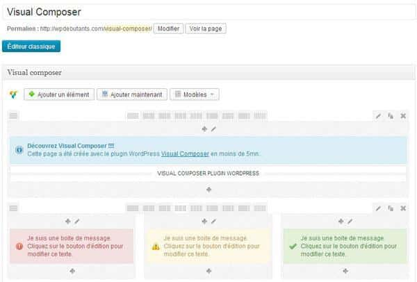Visual-composer plugin WordPress