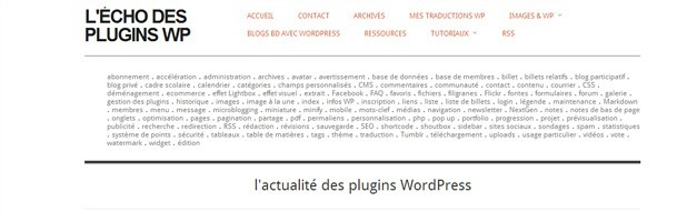 Le WordPress des Blogueurs echodesplugins