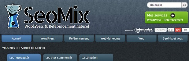 Le WordPress des Blogueurs seomix