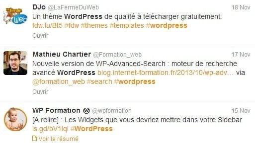 Ma veille WordPress veille wordpress twitter