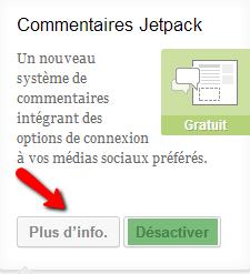 6+1 Plugins de partage gratuits WordPress desactiver
