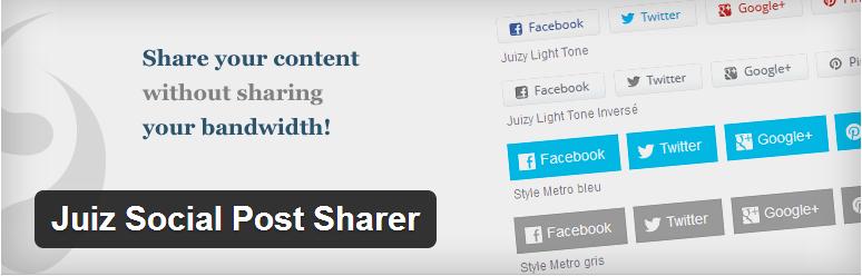 6+1 Plugins de partage gratuits WordPress plugin partage juiz social