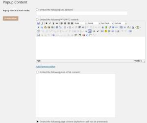 Le plugin WordPress Super Popup popup content 300x251