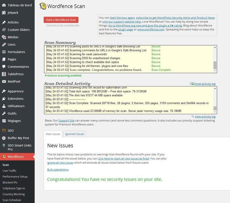 WordFence-scan
