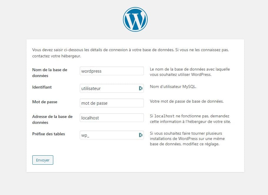 Installation WordPress 2