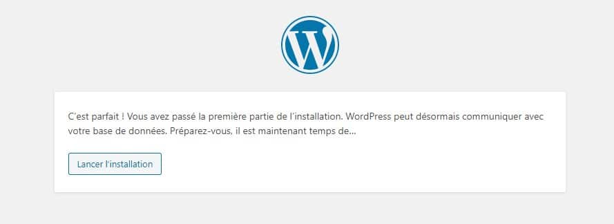 Installation WordPress 3