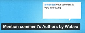 Mention comment's Authors by Wabeo